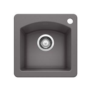 Évier de bar et préparation en surface DIAMOND Mini, SILGRANIT® de Blanco, cendre