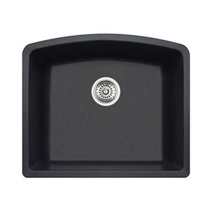 BLANCO Diamond 20.75-in x 24-in Anthracite Silgranit Kitchen Sink