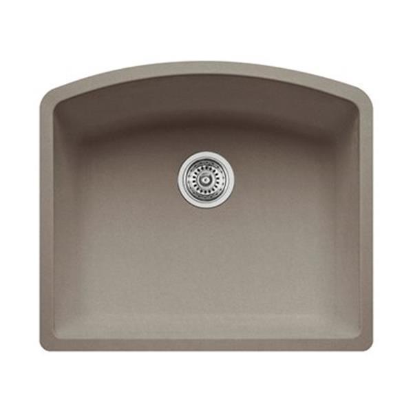 Blanco Diamond 20.75-in x 24-in Truffle Silgranit Kitchen Sink