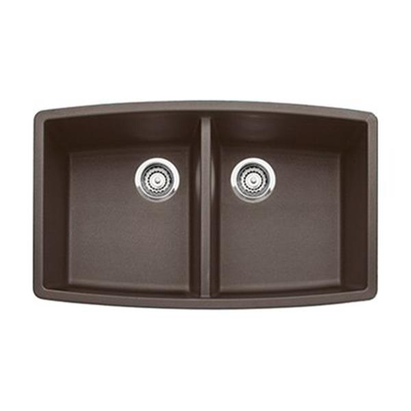 Blanco Performa 20-in x 33-in Cafe Silgranit Undermount Double Bowl Kitchen Sink