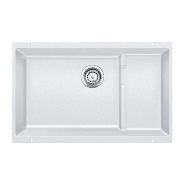 Blanco Precis Cascade 18-in x 28.75-in White Silgranit Undermount Sink