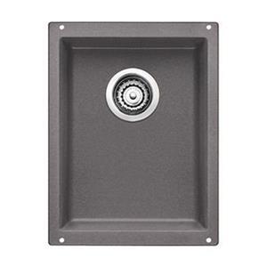 BLANCO Precis 13.75-in x 18-in Cinder Silgranit Undermount Sink