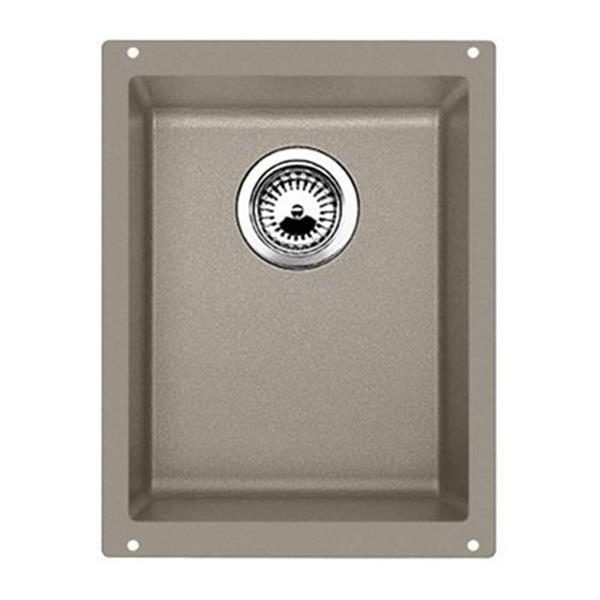 BLANCO Precis 13.75-in x 18-in Truffle Silgranit Undermount Sink