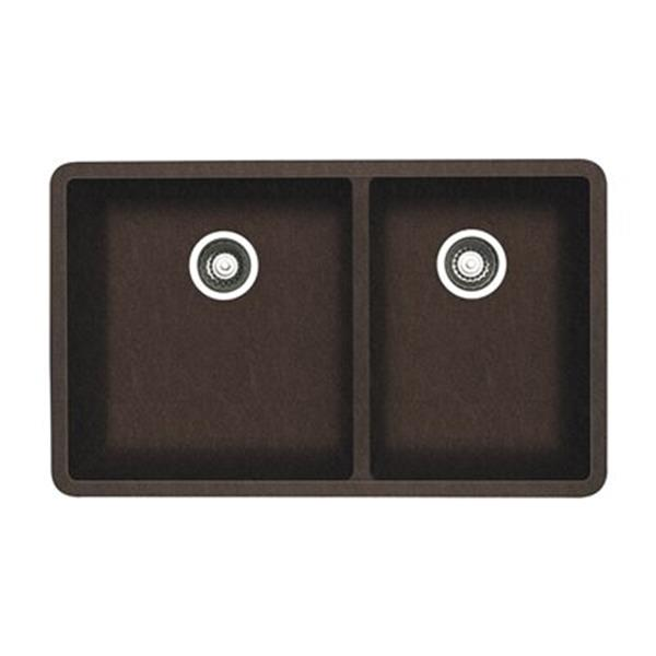 Blanco Precis 18-in x 33-in Cafe Silgranit Double Bowl Undermount Sink