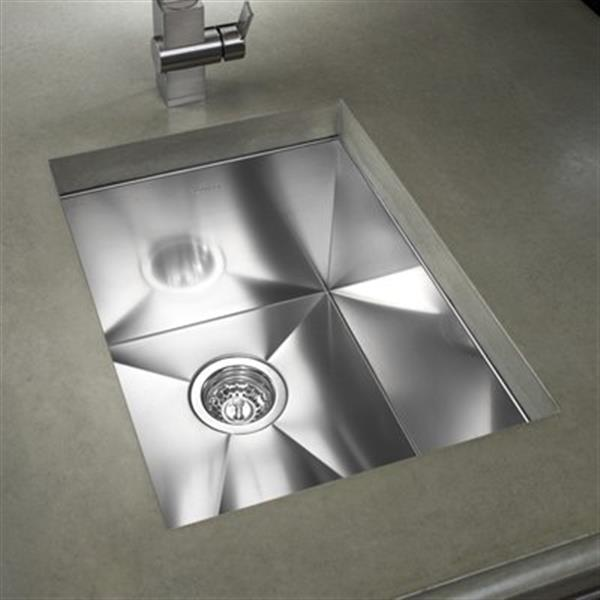 Blanco Precision 15-in x 18-in Stainless Steel Single Bowl Undermount Sink