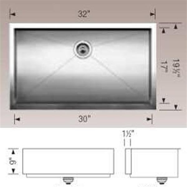 Blanco Precision 19.5-in x 32-in Stainless Steel Maxi Bowl Farmhouse Sink