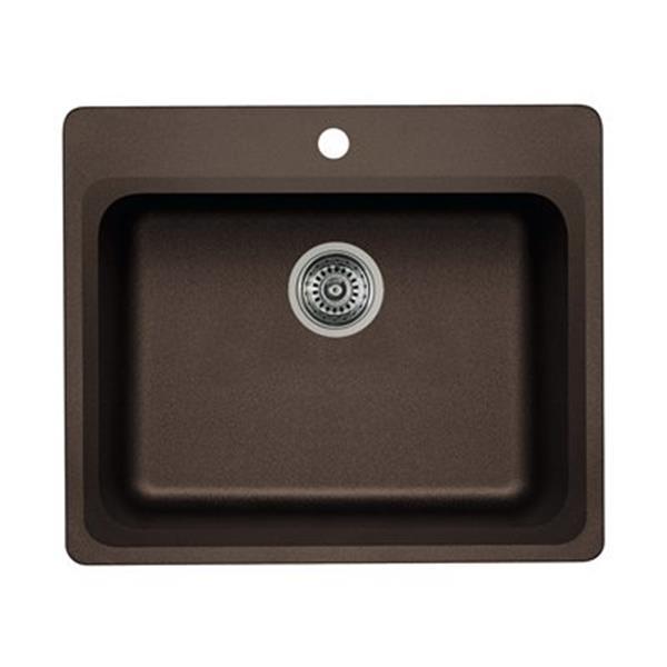 Blanco Vision 25.00-in x 20.75-in x 8-in Cafe Silgranit Drop-in Sink