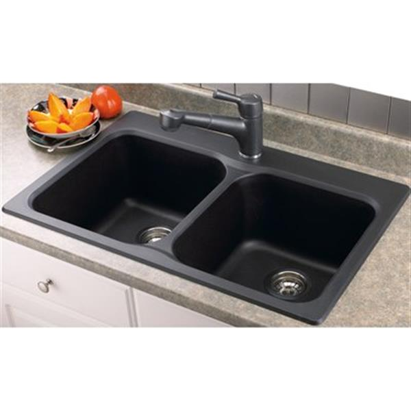Blanco Vision Silgranit Drop-in Double Bowl Sink