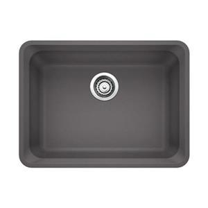 Blanco Vision Silgranit Cinder 18-in x 24-in Undermount Sink