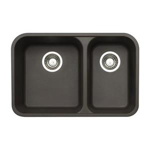 Blanco Vision Silgranit Cafe 18-in x 27-in Double Bowl Undermount Sink