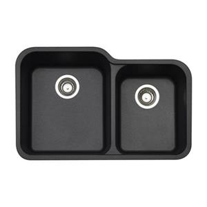 BLANCO Vision Silgranit Anthracite 19.75-in x 30.5-in Double Bowl Undermount Sink