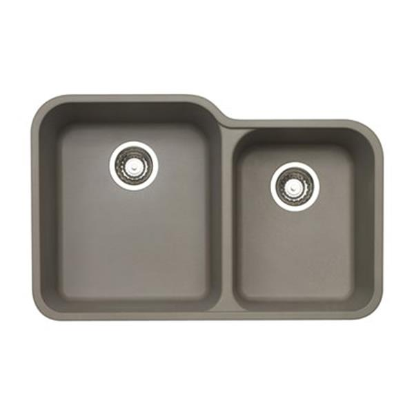 Blanco Vision Silgranit Truffle Double Bowl Undermount Sink