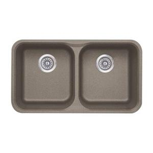Blanco Vision Silgranit Truffle 17.5-in x 30.75-in Double Bowl Undermount Sink