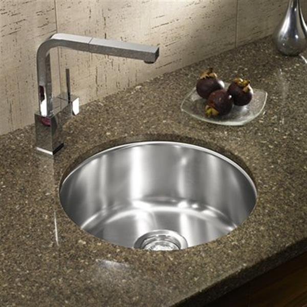 Blanco Winchester Steel 15-in Round Single Bowl Undermount Sink