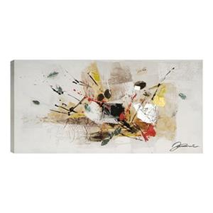 ArtMaison Canada Abstract With Leaves 23-in 46-in Canvas Art