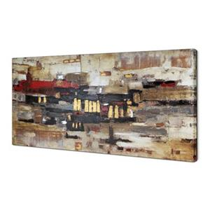 ArtMaison Canada Collage Abstract 30-in x 60-in Canvas Art