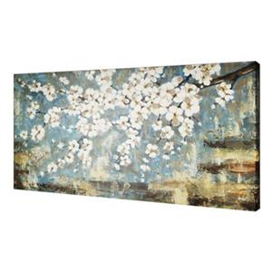 ArtMaison Canada Blue Blossom 30-in x 60-in Canvas Art