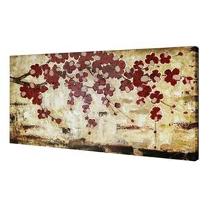 ArtMaison Canada Red Blossom 30-in x 60-in Canvas Art