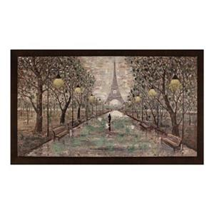 ArtMaison Canada Walk To Eiffel Tower 35.5-in x 59.5-in Framed Art