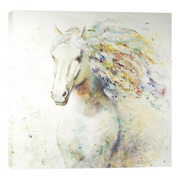ArtMaison Canada Colorful Horse I 47-in x 47-in Canvas Art