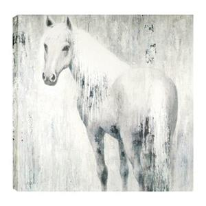 ArtMaison Canada Horse In Blue 48-in x 48-in Canvas Art