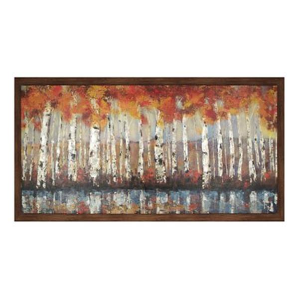 ArtMaison Canada Forest In Orange 36-in x 66-in Framed Art