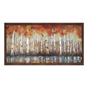 ArtMaison Canada Forest In Orange 36-in x 66-in Framed Art
