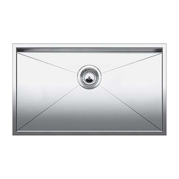 Blanco Quatrus Steel 18-in x 32-in U Super Single Sink