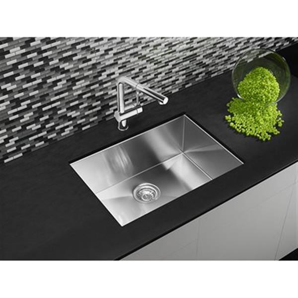Blanco Quatrus Steel 18-in x 25-in U Kitchen Sink