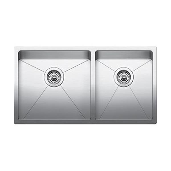 Blanco Quatrus Steel 18-in x 33-in Kitchen Sink