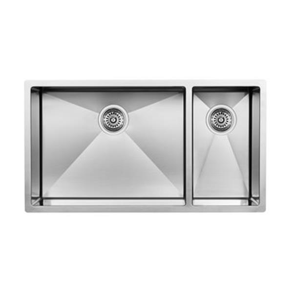 Blanco Steelart 18-in x 32-in Double Basin Sink