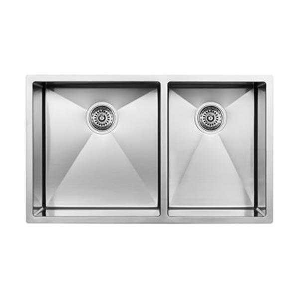 Blanco Steelart 18-in x 33-in Double Basin Sink