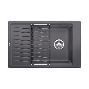 BLANCO Canada Precis Gray 19.75-in x 30.75-in Drainboard Kitchen Sink