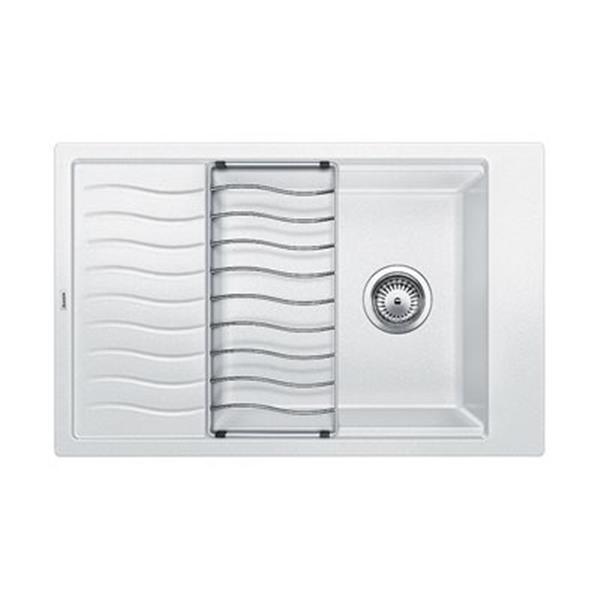 Blanco White 19.75-in x 30.75-in Precis Drainboard Kitchen Sink