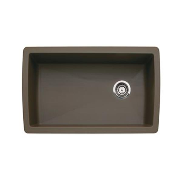 Blanco Brown 18.50-in x 33.5-in Diamond Super Single Sink