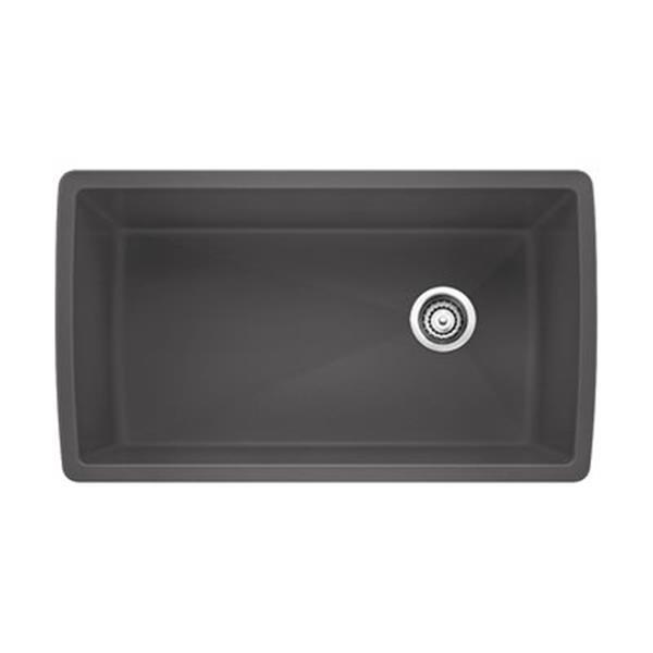 BLANCO Canada Gray 18.5-in x 33.5-in Diamond Super Single Sink
