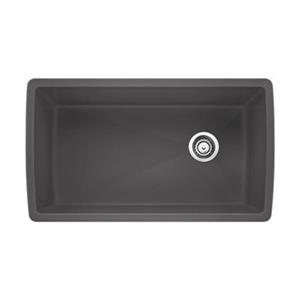 BLANCO Canada Gray 18.5-in x 33.5-in Diamond Super Single Sink