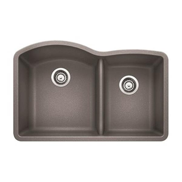 Blanco Gray 20.75-in x 32-in Diamond Kitchen Sink