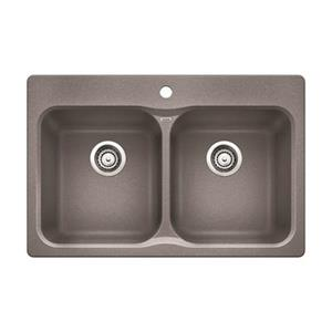 BLANCO Canada Gray 20.70-in x 31.50-in Vision Sink