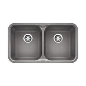 BLANCO Canada Gray 17.50-in x 30.70-in Vision Sink