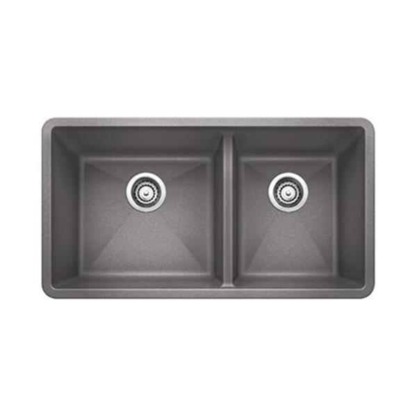 Blanco Precis Gray 19-in x 33-in Kitchen Sink