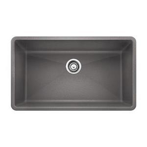 BLANCO Canada Precis Gray 19-in x 32-in Super Single Sink