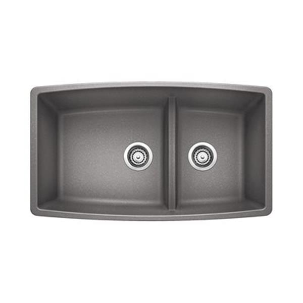Blanco Performa Gray 19-in x 33-in Kitchen Sink