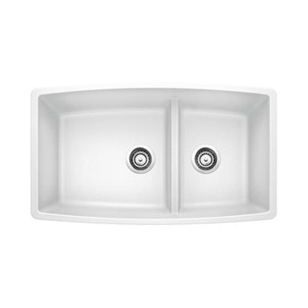 Blanco White 33-in x 48-in Performa Kitchen Sink