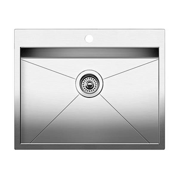 Blanco Quatrus Steel 21-in x 25-in Drop-In Kitchen Sink