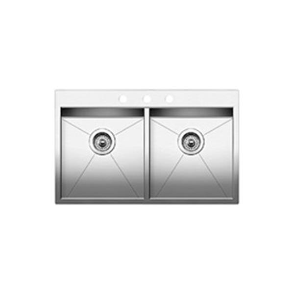 Blanco Quatrus 2.0 Drop-In Double Basin Sink