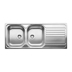 Blanco Tipo 19.75-in x 47.50-in Double Basin Sink with Drainboard