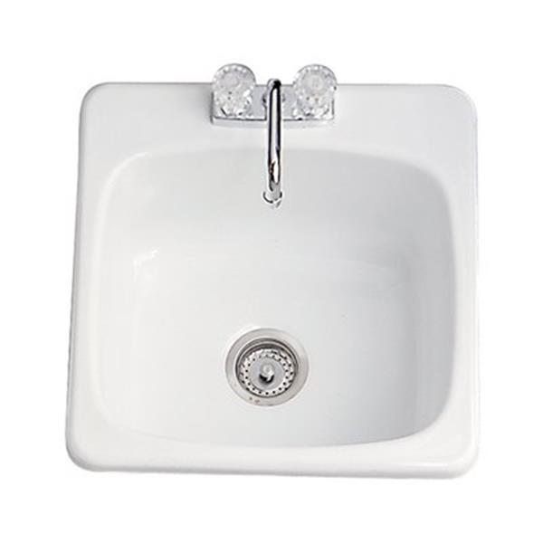 """Cuve à lessive classique, 20,8"""" x 20,3"""", acrylique, blanc"""