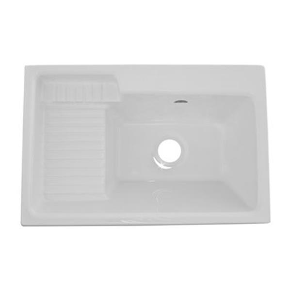 """Cuve à lessive Europa Deluxe, 32"""" x 21"""", acrylique, blanc"""