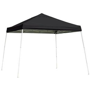 ShelterLogic HD Series 12-ft x 12-ft Black Square Slant Leg Pop-Up Canopy